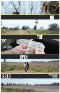 poster for the film On the Open Road with five images from the film